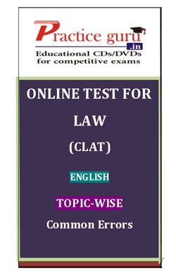Online Test for Law: CLAT: English: Topic-Wise: Common Errors