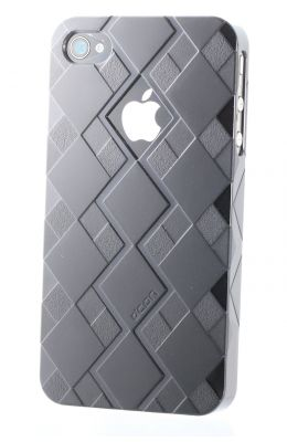 CDN iphone 4 / 4s Superstrong Polycarbonate Back Cover (G032 - 01) With Value Bundle Package (Black)