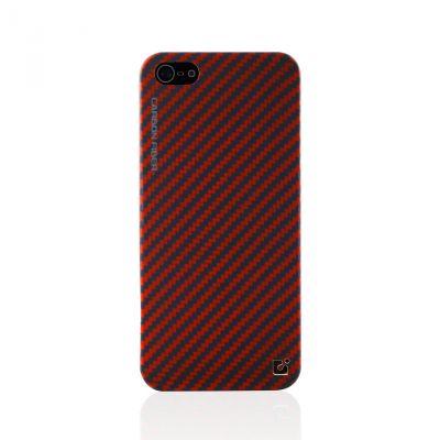 CDN Carbon Fiber iPhone 5 Case Blue-Red G062-02