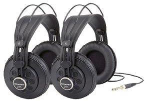 Samson SR850 - 2 Pair Two Professional Studio Reference Headphones