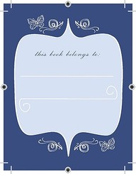 Blue Butterfly Bookplates