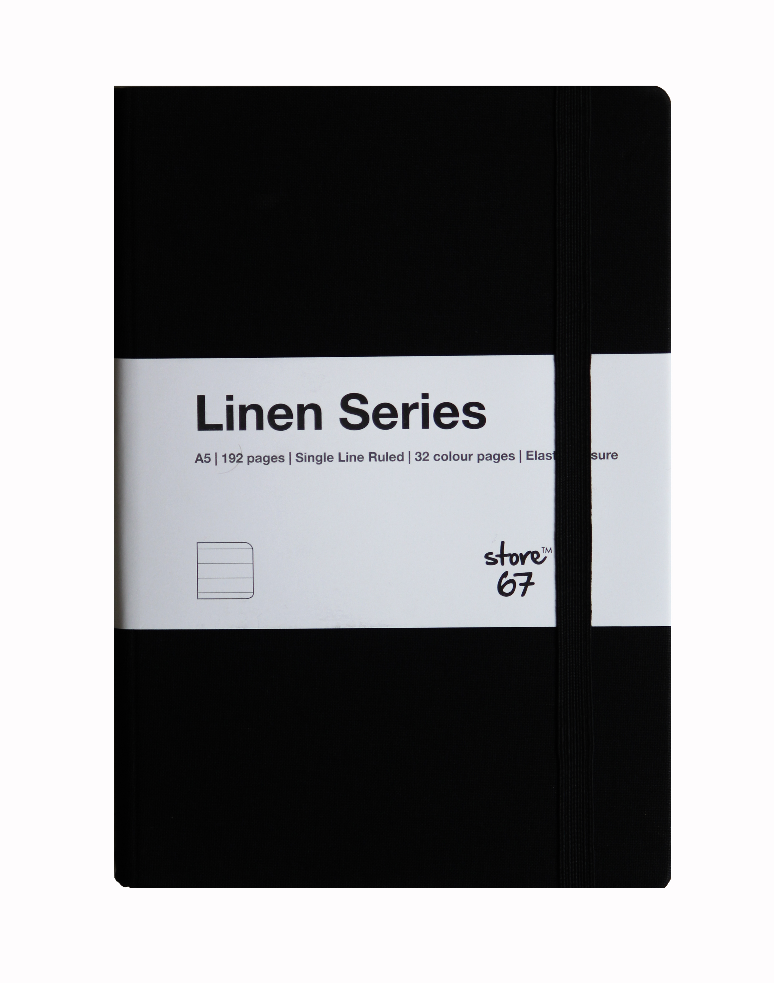 Store67 Linen Series A5 Single Line Ruled (Yellow)