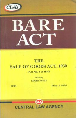 Sale Of Goods Act 1930 : Bare Act