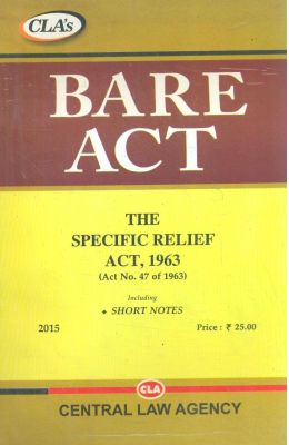 Specific Relief Act 1963 : Bare Act