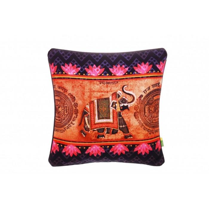 Eco Corner Indian Elephant Cushion Cover