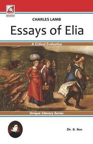Buy Charles Lamb Essays Of Elia Book  S Sen   Charles Lamb Essays Of Elia