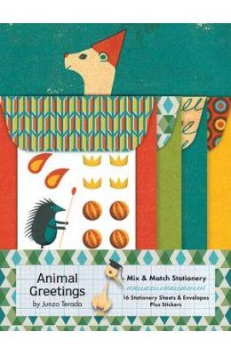 Animal Greetings Mix & Match Stationery