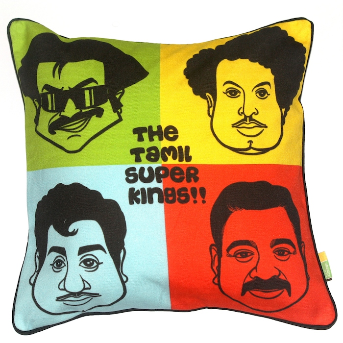 Eco Corner Tamil Superkings Cushion Cover