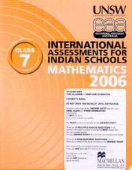 Iais 2006 Question Paper Booklet : Mathematics 2006-Class 7 [2006 Iais]