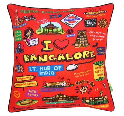 Eco Corner Coloured Bangalore Cushion Cover