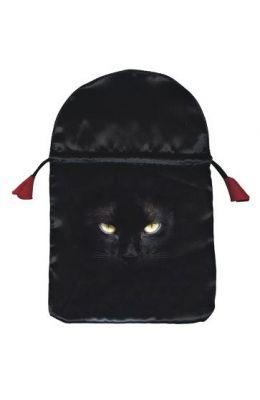 Black Cat Satin Tarot Bag