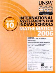 Iais 2006 Question Paper Booklet : Mathematics 2006-Class 10 [2006 Iais]
