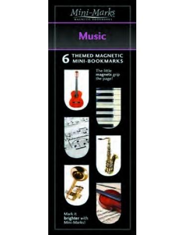 Mini-Mark Magnetic Bookmark-Music