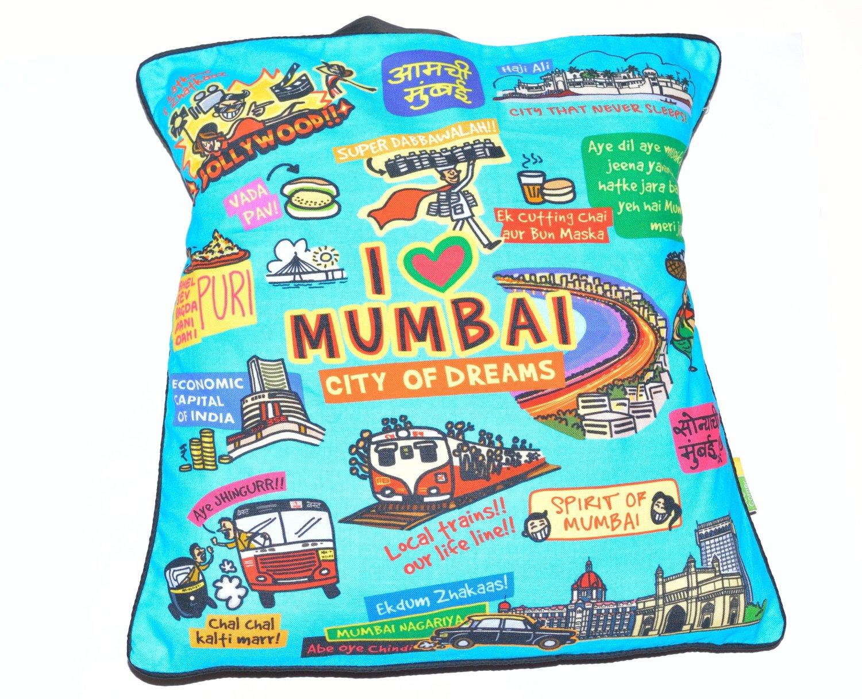 Eco Corner Coloured Mumbai Cushion cover
