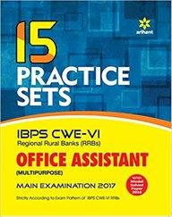 15 Practice Sets Ibps Cwe 6 Regional Rural Banks Office Assistant Multipurpose Main Exam : Code J463