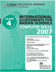 Iais 2007 Question Paper Booklet : Computer Skills 2007 - Class 4 [2007 Iais]