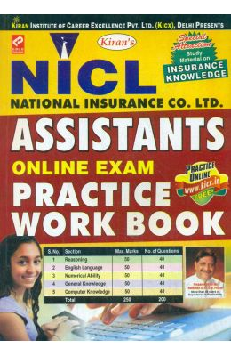 Nicl Assistants Online Exam Practice Work Book : Kp 1240