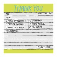 Knock Knock Hand-Lettered Thank You Sticky Note