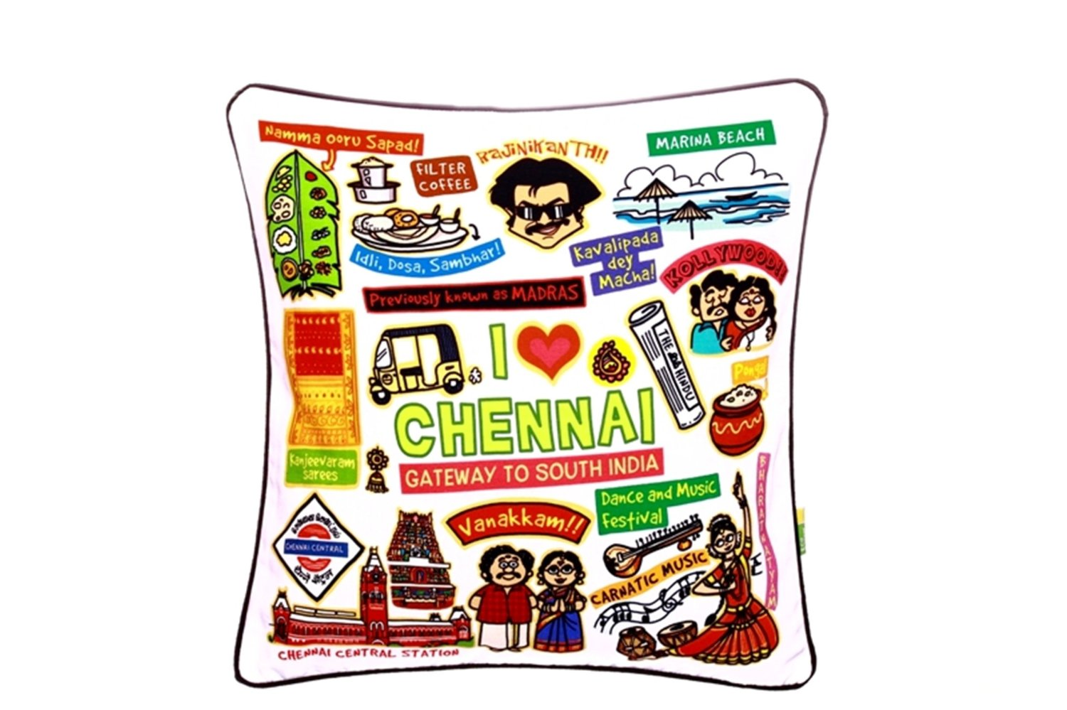Eco Corner Chennai White Cushion Cover