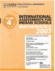Iais 2007 Question Paper Booklet : Mathematics 2007 - Class 4 [2007 Iais]