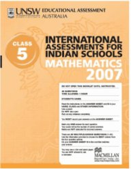 Iais 2007 Question Paper Booklet : Mathematics 2007 - Class 5 [2007 Iais]