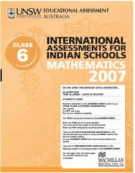 Iais 2007 Question Paper Booklet : Mathematics 2007 - Class 6 [2007 Iais]