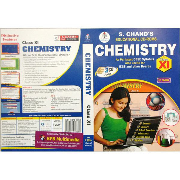 S Chand Educational CD-Rom: Chemistry For Class-11 (With 3 CDs)