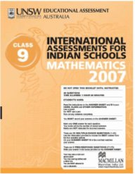 Iais 2007 Question Paper Booklet : Mathematics 2007 - Class 9 [2007 Iais]