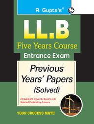 Llb  Five Years Course Entrance Exam Previous Years Solved Papers : Code R2013