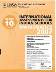 Iais 2007 Question Paper Booklet : Mathematics 2007 - Class 10 [2007 Iais]