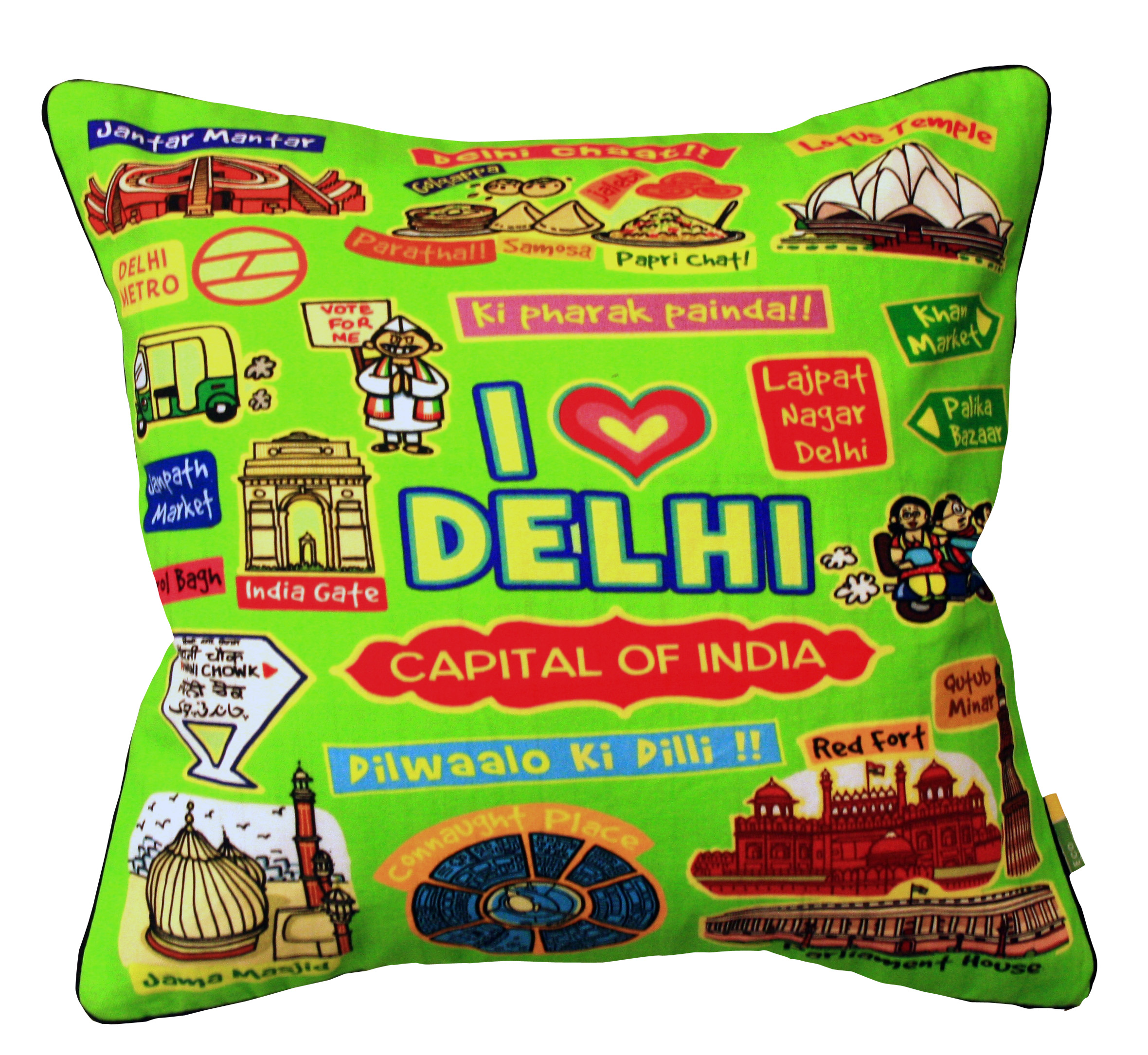 Eco Corner Delhi Coloured Cushion Cover