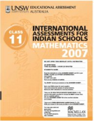 Iais 2007 Question Paper Booklet : Mathematics 2007 - Class 11 [2007 Iais]