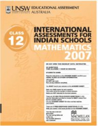 Iais 2007 Question Paper Booklet : Mathematics 2007 - Class 12 [2007 Iais]
