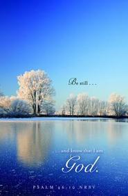Be Still Winter Bulletin 2012, Regular (Package of 50)