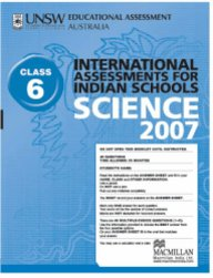 Iais 2007 Question Paper Booklet : Science 2007 - Class 6 [2007 Iais]