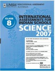 Iais 2007 Question Paper Booklet : Science 2007 - Class 8 [2007 Iais]