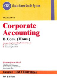 Corporate Accounting (Set of 2 Volumes) - B.Com (Hons.) 6th Edition
