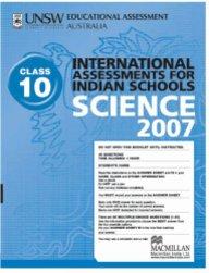 Iais 2007 Question Paper Booklet : Science 2007 - Class 10 [2007 Iais]