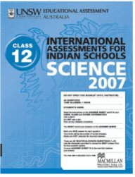 Iais 2007 Question Paper Booklet : Science 2007 - Class 12 [2007 Iais]