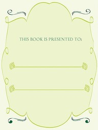 Bookplates - This Book Presented To