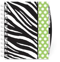 Lime Zebra Note Keeper