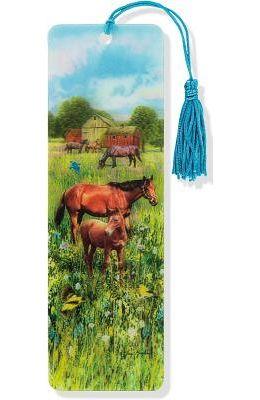 Horses 3-D Bookmark