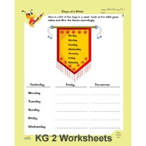 KG 2 MATHS & ENGLISH WORKSHEETS