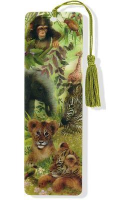 Safari Babies 3-D Bookmark