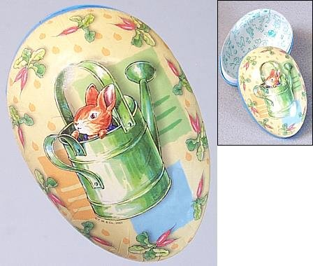 Beatrix Potter Peter Rabbit in Watering Can 6 inch Paper Egg
