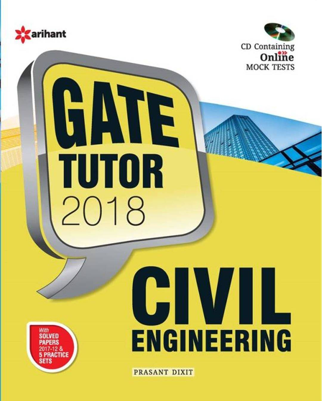 Civil Engineering Gate Tutor 2018 W/Cd : Code G513