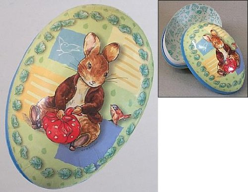Beatrix Potter Benjamin Bunny Sitting with Sack 6 inch Paper Egg