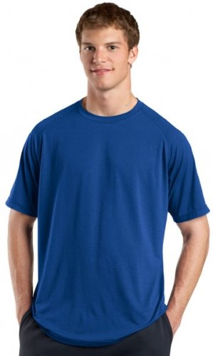 Big Mens Ultimate Performance Crew T-Shirt by Sport-Tek (Big & Tall and Regular Sizes)
