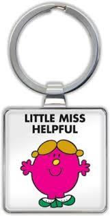Little Miss Helpful Keyring