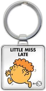Little Miss Late Keyring